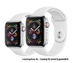 Apple Watch Series 4 GPS + Cellular mit 40mm oder 44mm, Sportarmband Weiss leasen